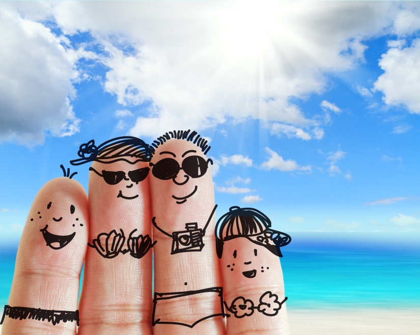 finger family on holiday