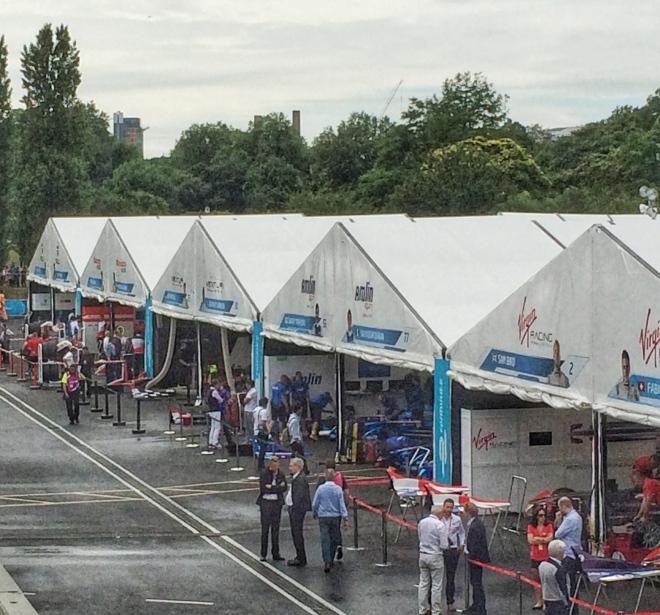ePrix motor racing in Battersea