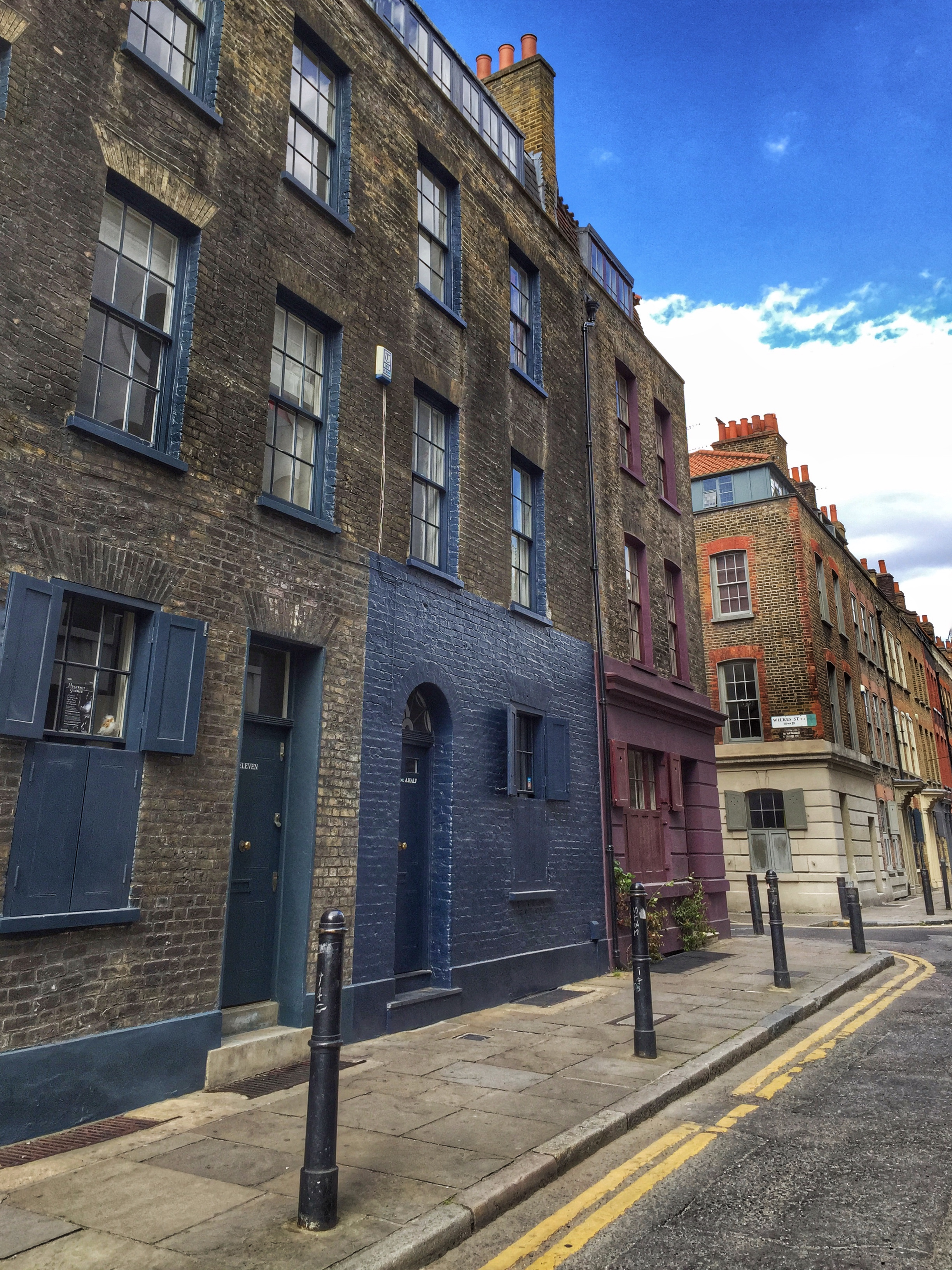 Townhouses on Fournier Street in Spitalfields