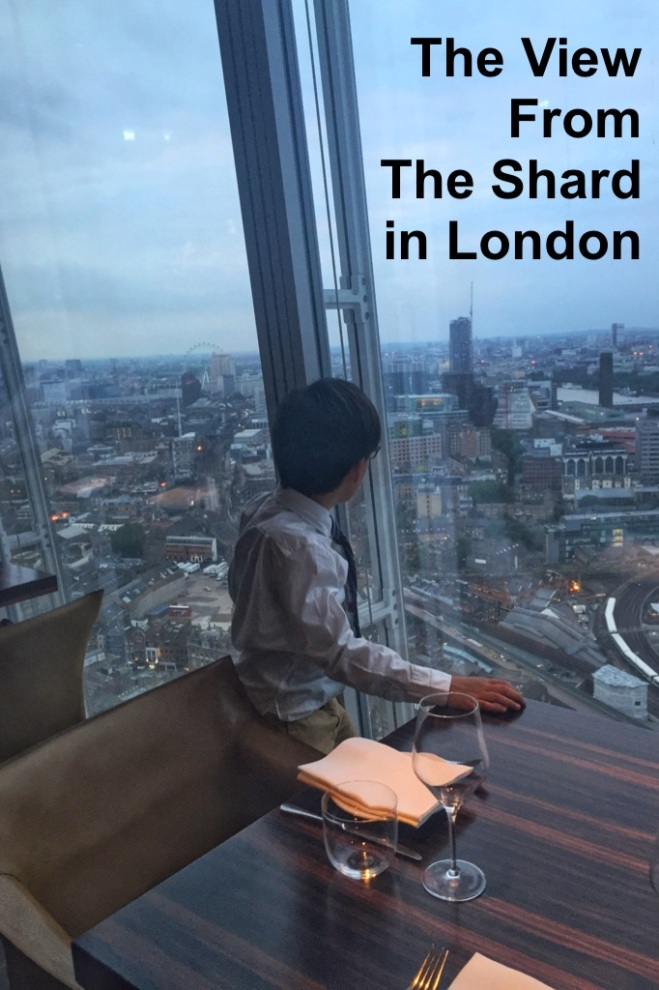 The view from Obelix, a restaurant at The Shard in London