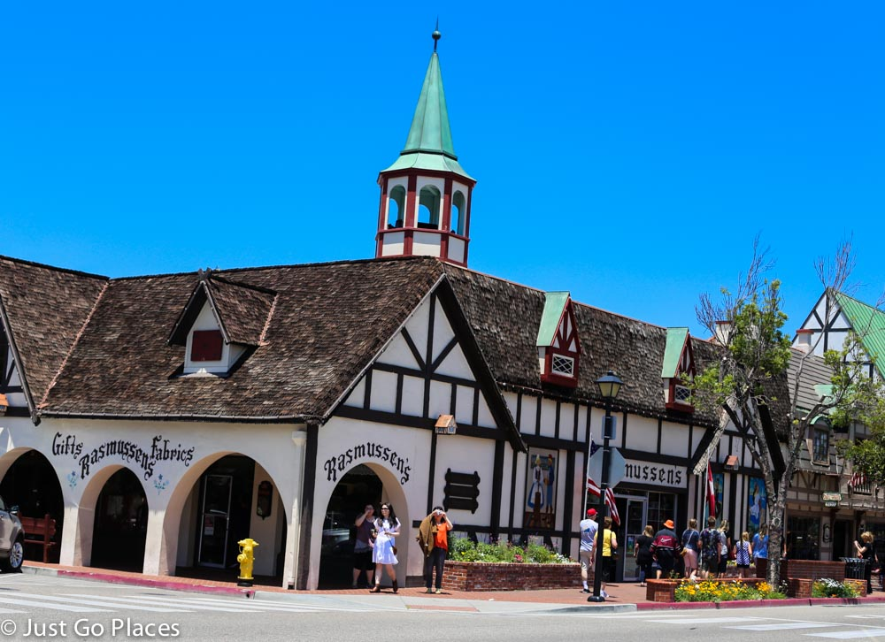 half-timbered buildings in Solvang