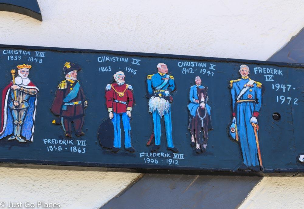 Danish royal family mural