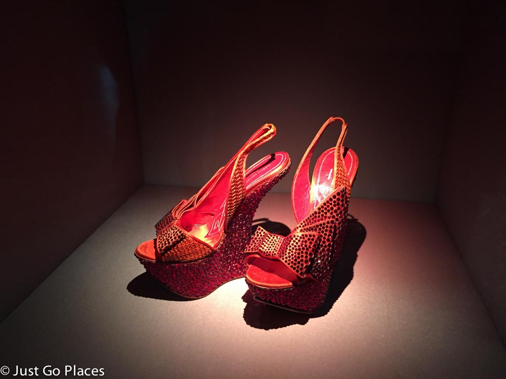 Swaroski crystal shoes for Dorothy in the Wizard of Oz