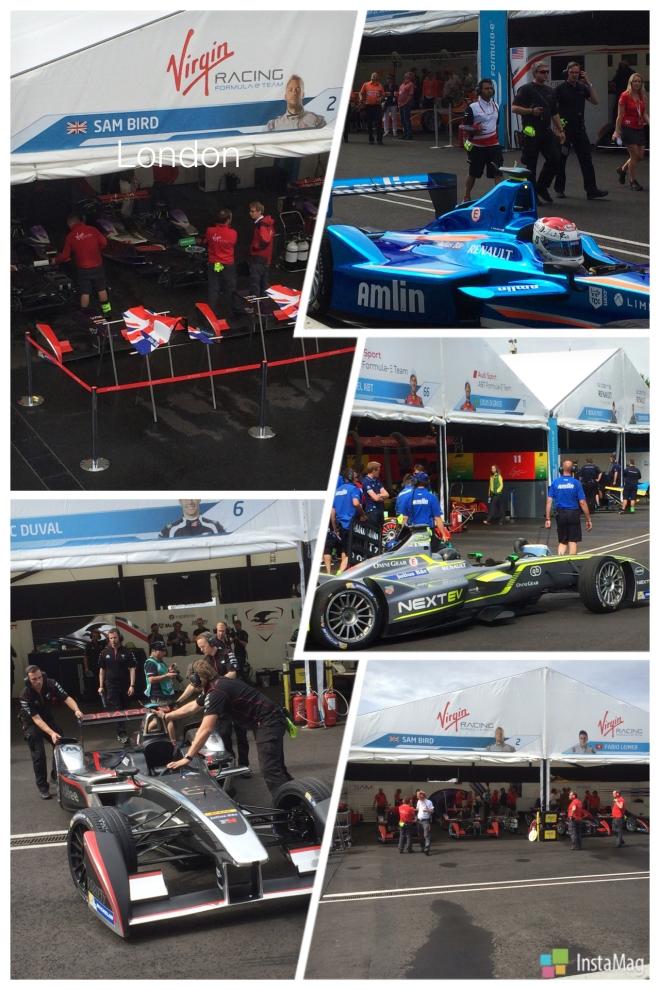 ePrix motor racing at Battersea Park London
