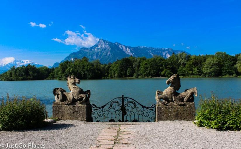 Schloss Leopoldskron lake