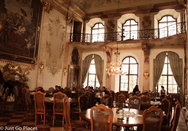 Schloss Leopoldskron breakfast room