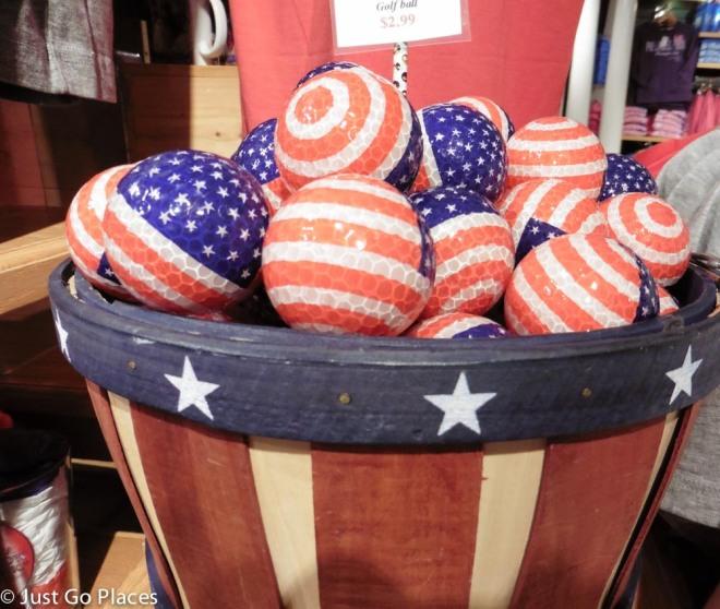 American flag tennis balls
