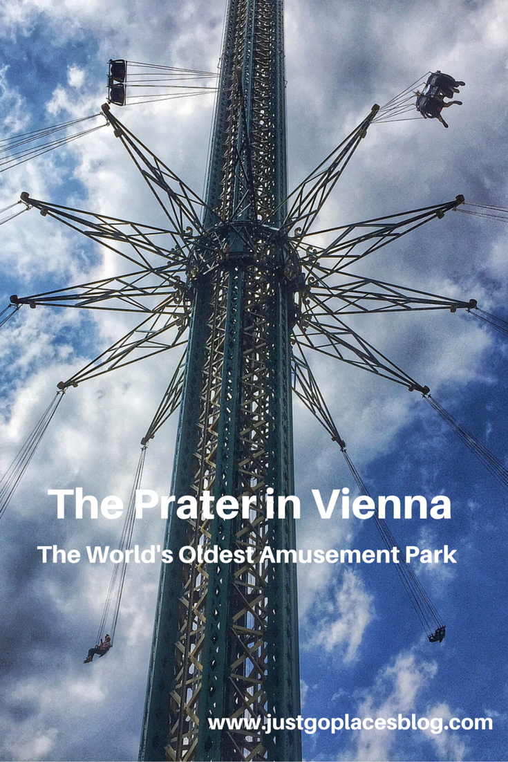 The Praterturm, the world's highest spinning wheel at The Prater Amusement Park in Vienna