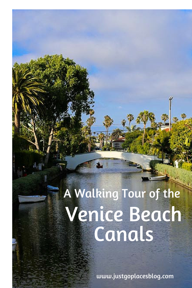 Venice Beach California canal walkway