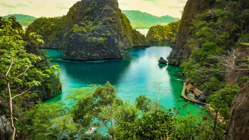 Lake in Coron Palawan The Philippines