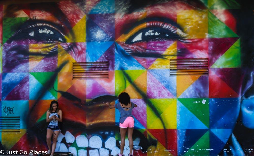 street art at ibirapuera park sao paulo brazil