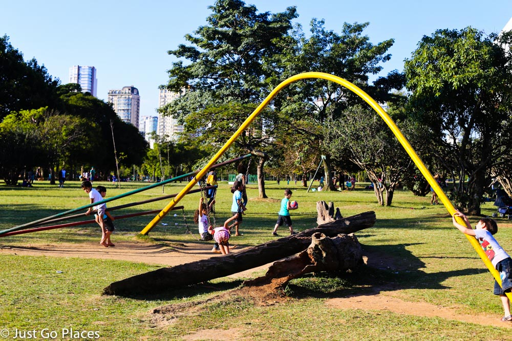 Children's play area at Ibirapuera Park Sao Paulo Brasil