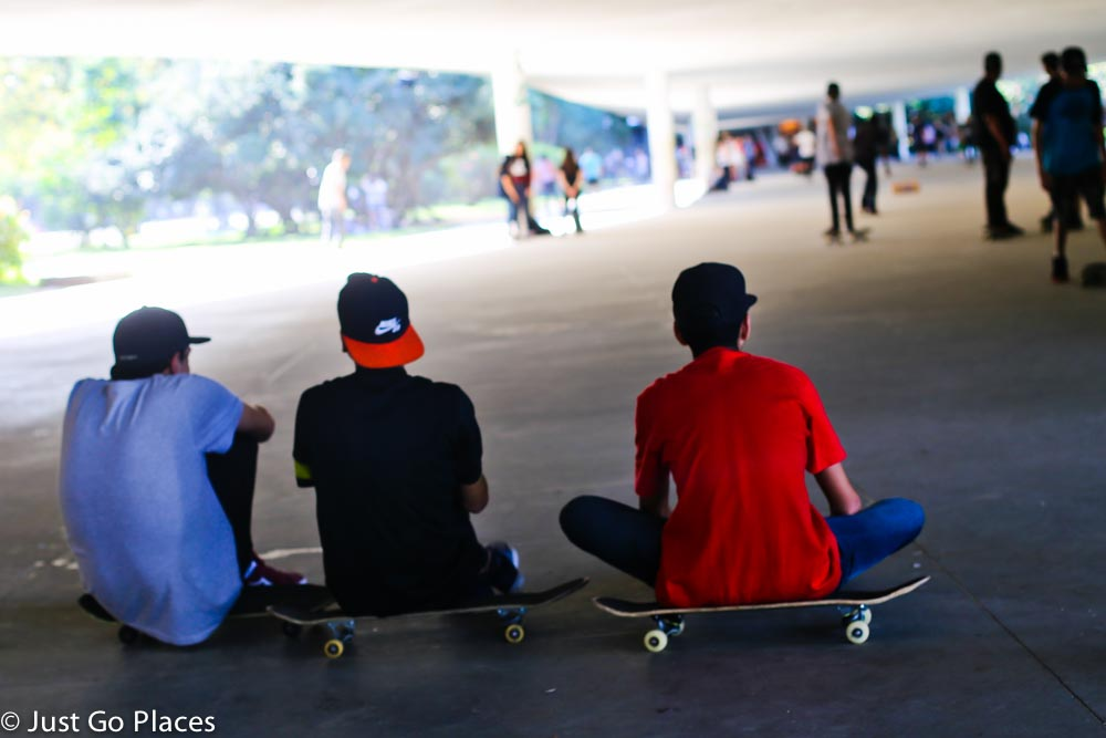 skateboarders at Ibirapuera Park Brasil