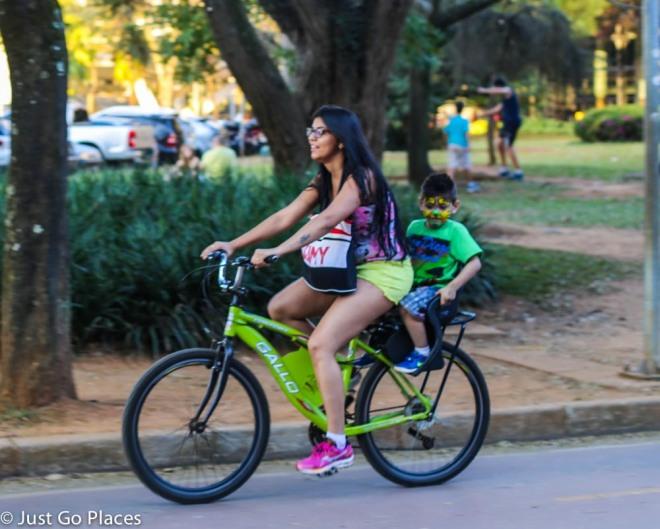 bicycles at Ibirapuera Park Sao Paulo Brasil